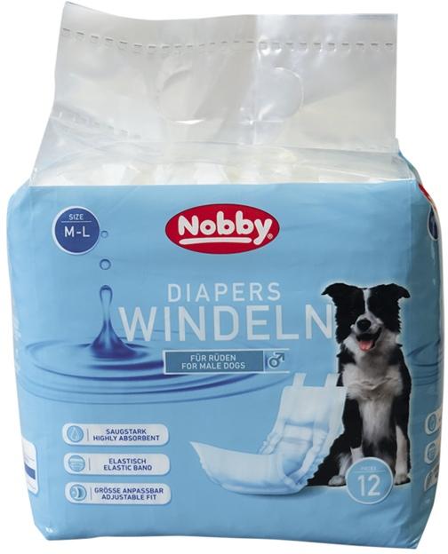 Nobby papírové pleny pro psy M-L 46-60cm (12 ks)