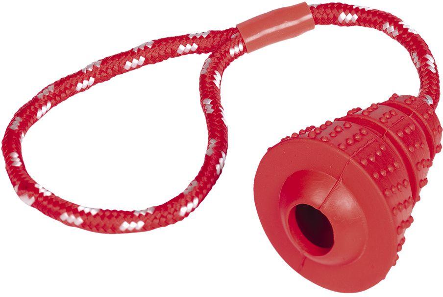 Nobby silná gumová hračka kužel s lanem 36cm