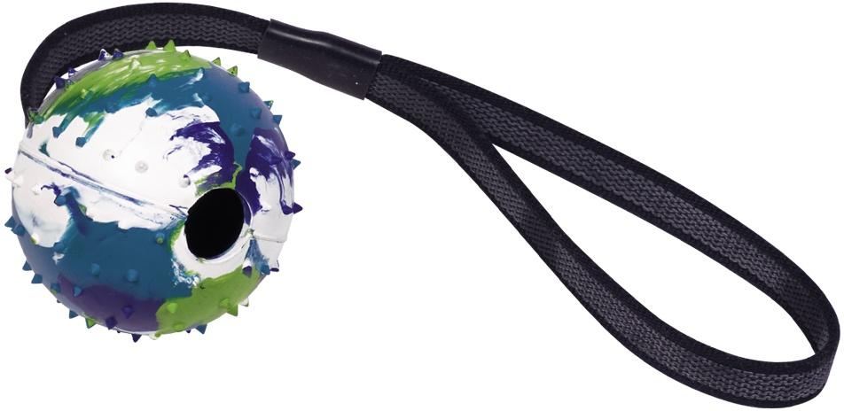 Nobby gumová hračka pro psy s lanem 39 cm
