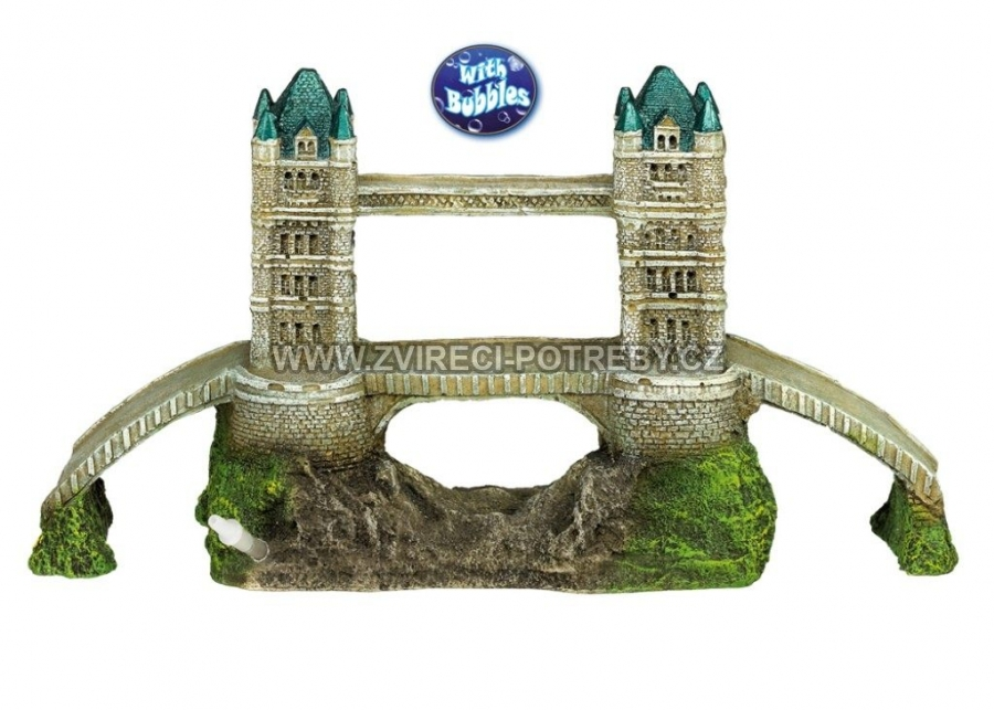 Nobby vzduchovací akvarijní dekorace London Bridge 32,5 x 11,3 x 16,5 cm