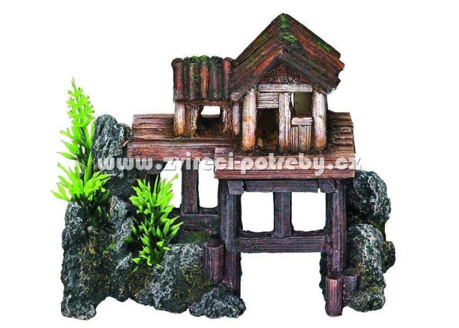 Nobby akvarijní dekorace dům na skále 15,5 x 8 x 12 cm