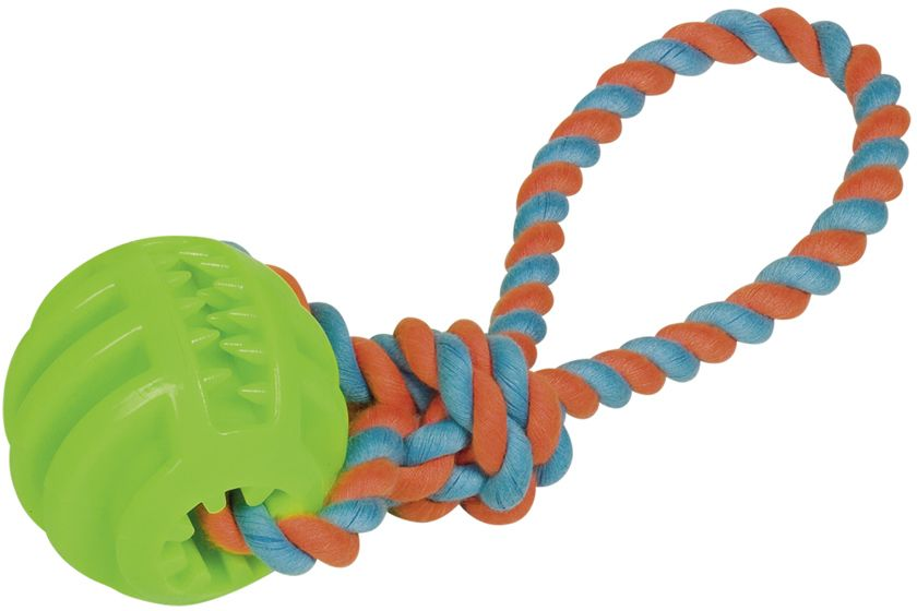 Nobby silná hračka TRP guma míč s lanem 28 cm