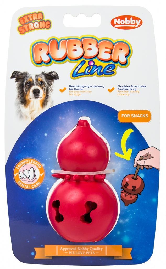 Nobby silná gumová hračka na pamlsky 11cm