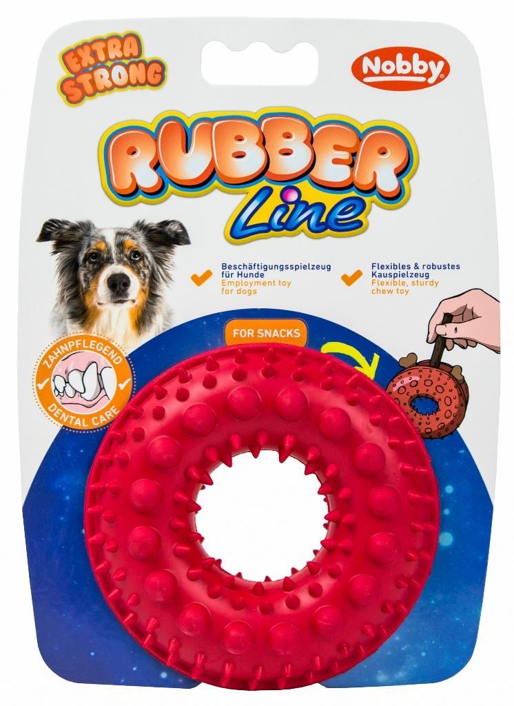 Nobby silná gumová hračka na pamlsky kruh 10,5 cm