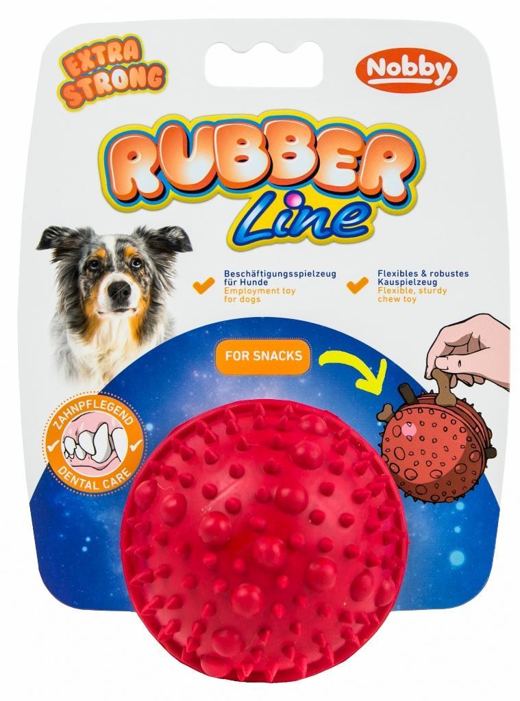 Nobby silná gumová hračka na pamlsky míč 7,5 cm