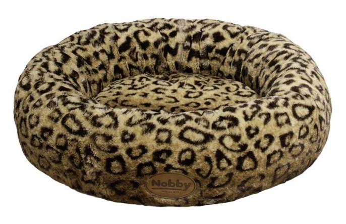 Nobby Alanis donut plyšový pelíšek leopard hnědá 45cm