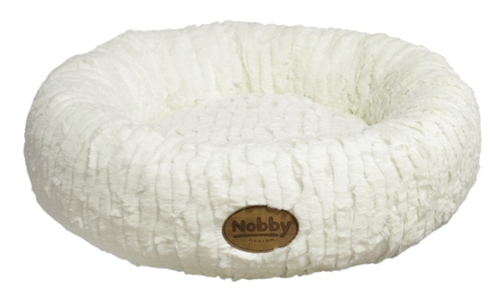 Nobby Nova donut plyšový pelíšek bílý 45cm