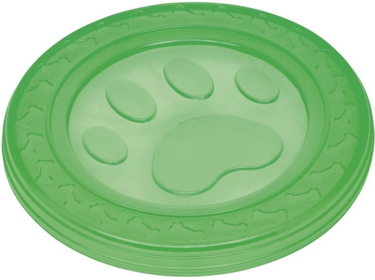 Nobby hračka pro psy termoplastická guma frisbee zelené 22cm