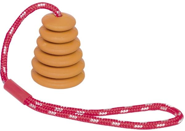 Nobby hračka pro psy tvrdá guma s lanem oranžový 37cm