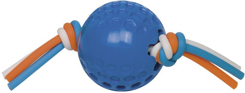 Nobby hračka TPR míček se silikonovým lanem modrá