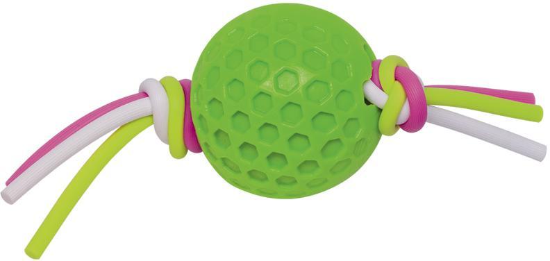 Nobby hračka TPR míček se silikonovým lanem zelená