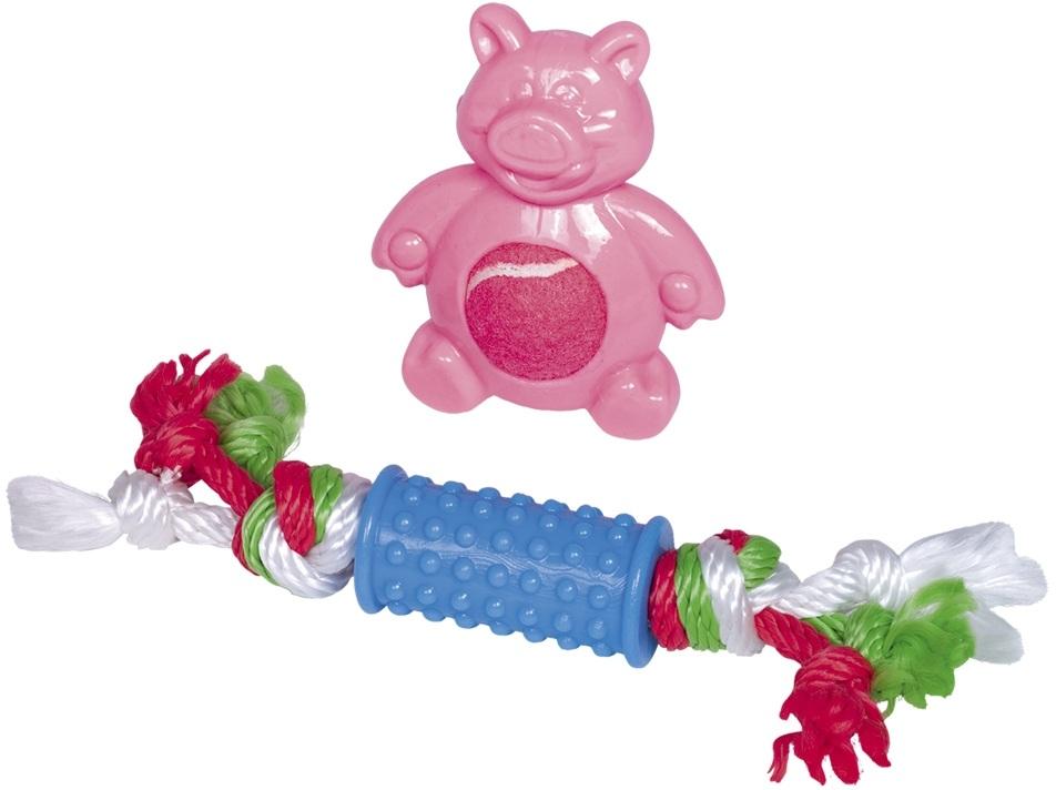 Nobby Puppy set hraček TPR pro malé pejsky 2 ks