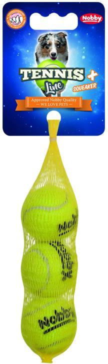 Nobby hračka tenisový míček XS pískátko 4cm 3ks