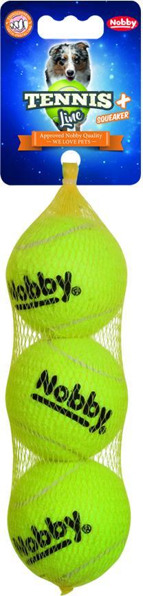 Nobby hračka tenisový míček M pískátko 6,5cm 3ks