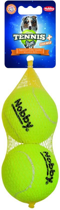 Nobby hračka tenisový míček L pískátko 8,5cm 2ks