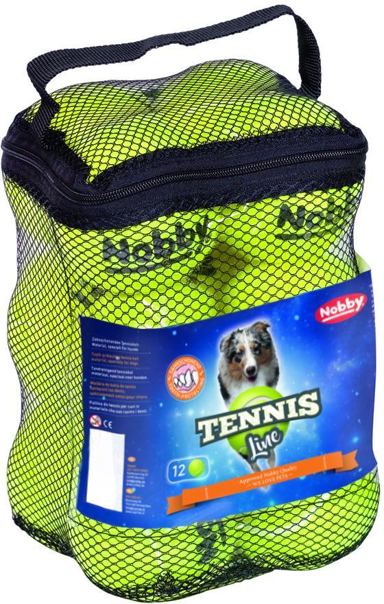 Nobby Tennis Line hračka tenisový míček žlutý M 6,5cm 12ks