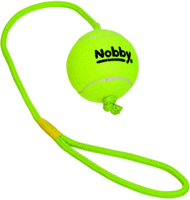 Nobby hračka tenisový míček L 7,5cm s lanem 70cm