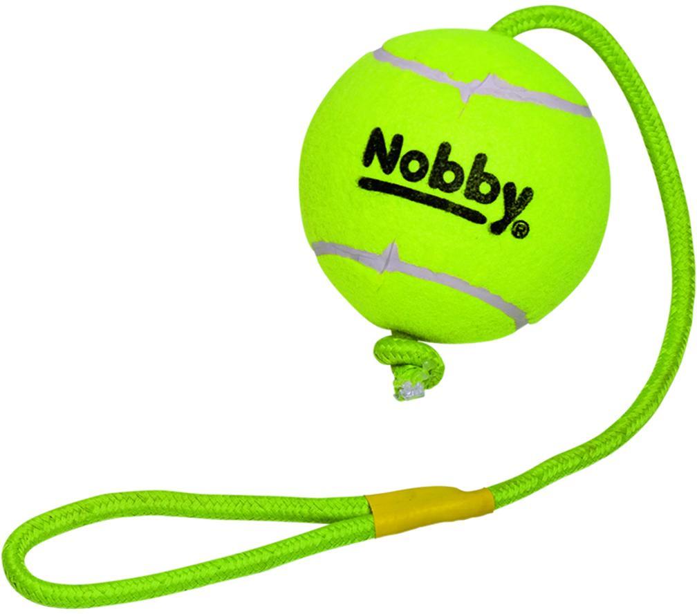Nobby hračka tenisový míček XXL 12,5cm s lanem 70cm