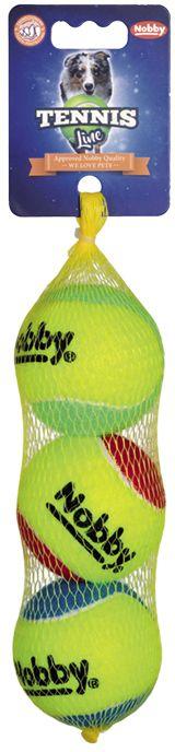 Nobby Tennis Line hračka tenisový míček barevný 6,5 cm 3ks