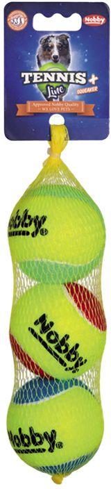 Nobby Tennis Line hračka tenisový míček barevný M 6,5cm 3ks