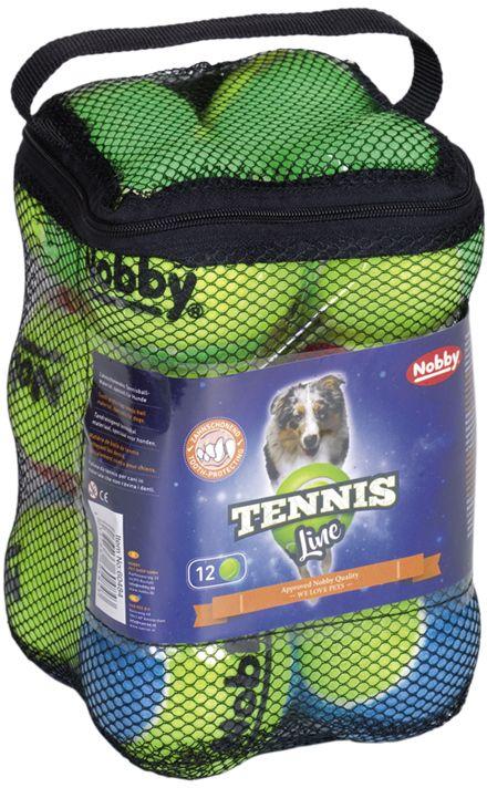 Nobby Tennis Line hračka tenisový míček barevný M 6,5cm 12ks