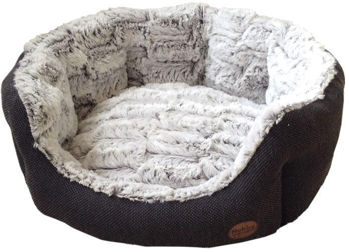 Nobby CACHO luxusní plyšový pelíšek hnědý oválný 65x57x22cm
