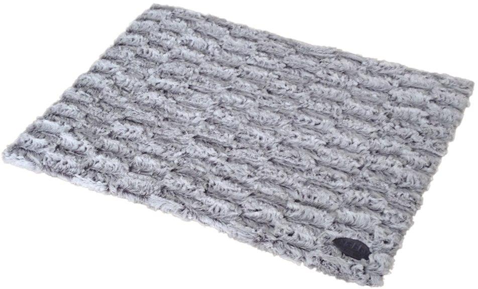 Nobby ONDA měkká plyšová deka šedá 110 x 70 x 1,5 cm