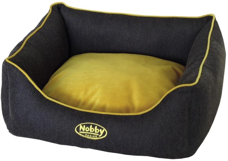 Nobby PIOLA textilní pelíšek tmavě šedý 75x60x23cm