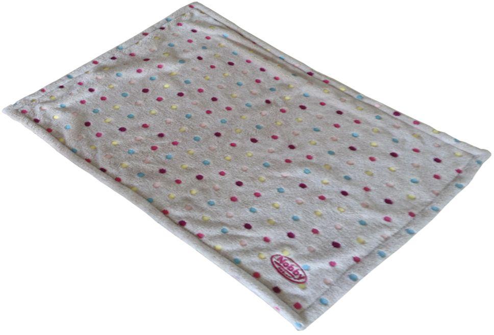 Nobby Spot plyšová deka šedá s puntíky 75 x 50 cm