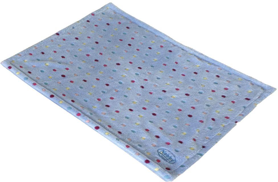 Nobby Spot plyšová deka modrá s puntíky 75 x 50 cm