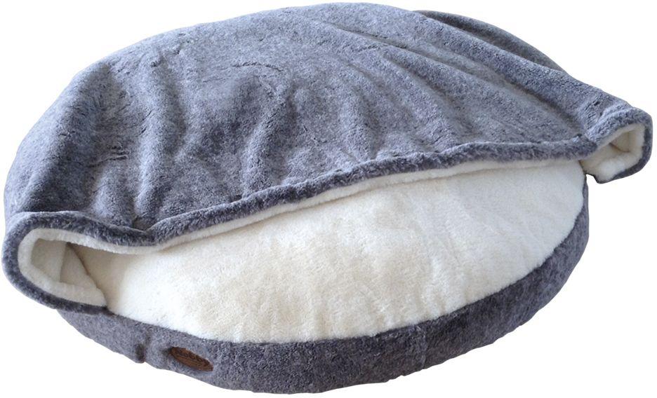 Nobby CUDDLY pelíšek s přikrývkou světle šedá 92cm