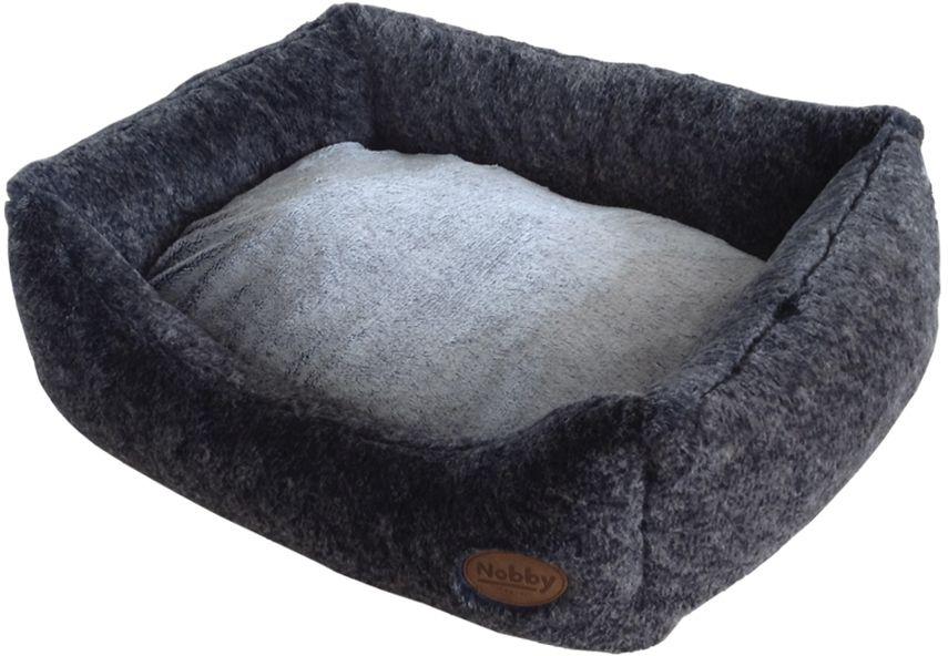 Nobby CUDDLY pelíšek tmavě šedý 45x40x19cm