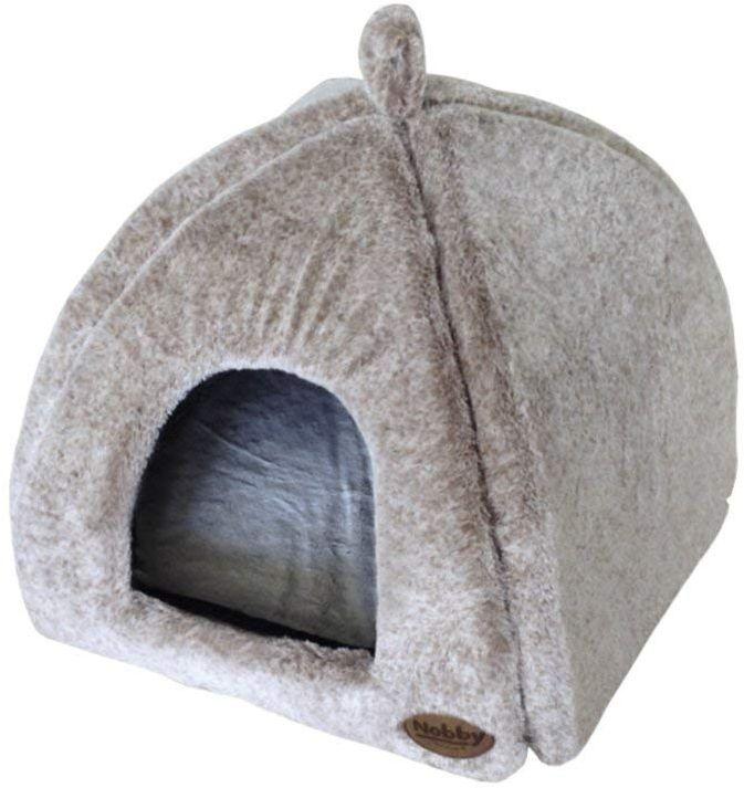 Nobby CUDDLY jeskyně hnědý plyš 40x40x35cm