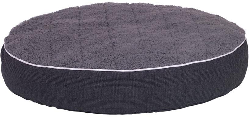 Nobby Osso ortopedická kulatá matrace pro psy tmavě šedá 90 x 15 cm
