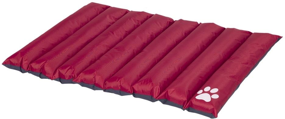 Nobby oboustranná srolovatelná matrace Anon pro psy červeno-šedá 110x85x8cm
