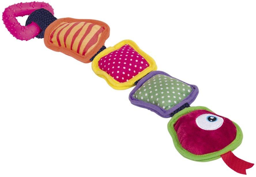 Nobby hračka pro psa barevný dlouhý had 45cm