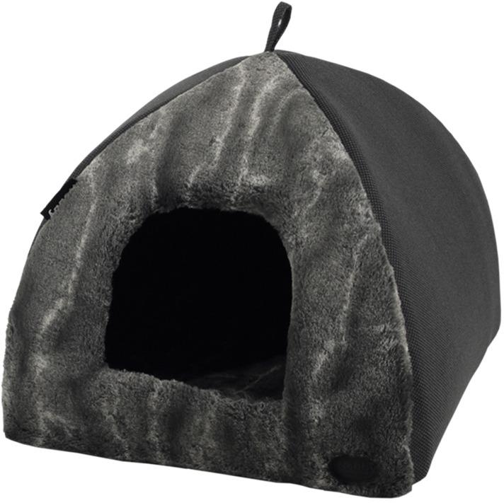 Nobby DIAN plyšová kukaň luxusní černá 40x40x35cm