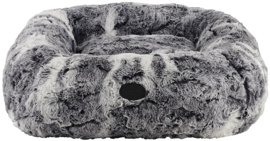 Nobby CITRA pelíšek donut fleky šedá 45x45cm