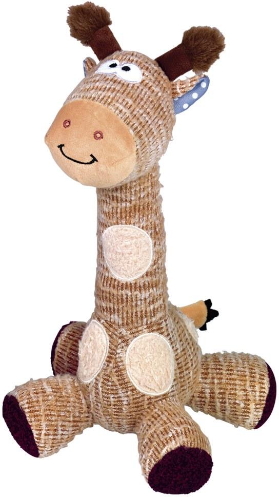 Nobby hračka pro psy žirafa s pískátkem 33 cm