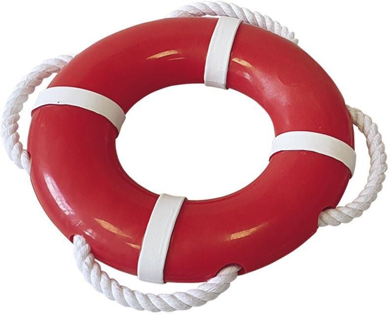 Nobby hračka Rubber Line záchranný kruh s lanem 15 cm
