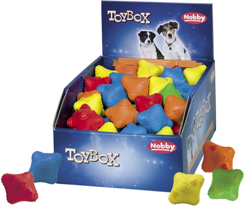Nobby TOYBOX gumová hračka Reflex 6cm 72ks
