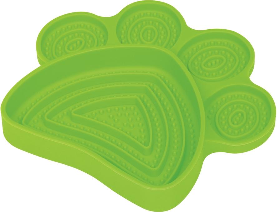 Nobby lízací podložka Paw zelená 21 x 19 cm