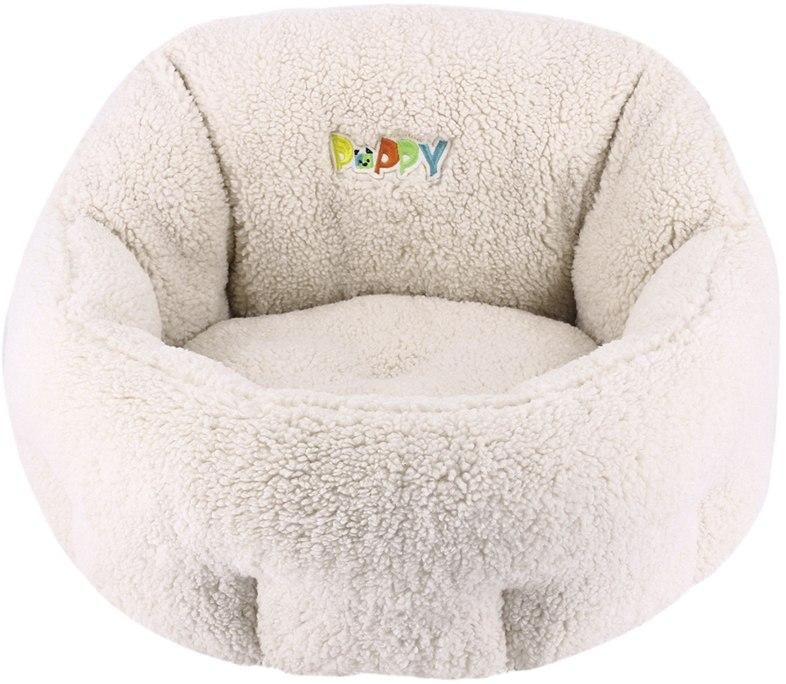 Nobby PUPPY komfortní oválný pelíšek barva krémově bílá 50x45x32cm