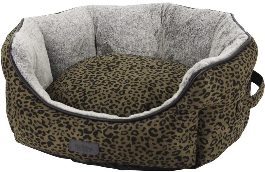 Nobby LEO komfortní pelíšek leopardí hnědá 45 x 40 x 19 cm