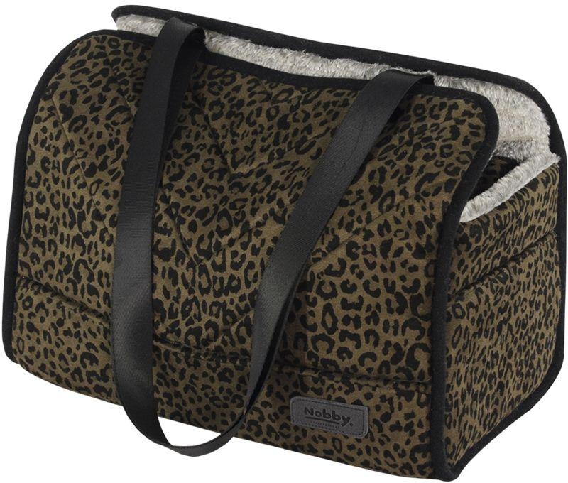 Nobby přepravní taška a pelíšek LEO pro psy do 6kg leopardí hnědá 35x20x30cm