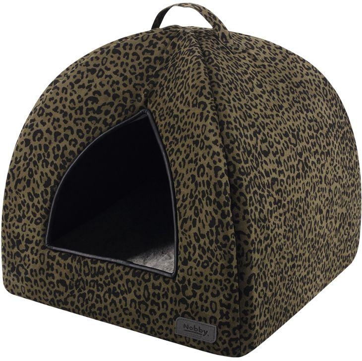 Nobby LEO jeskyně leopard hnědá 38x38x38cm