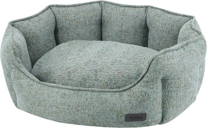 Nobby NEVIS komfortní oválný pelíšek zeleno-šedý 45x40x19cm