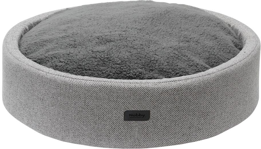 Nobby kulatý pelíšek JASIN pro psy šedá snímatelný potah 80x17cm