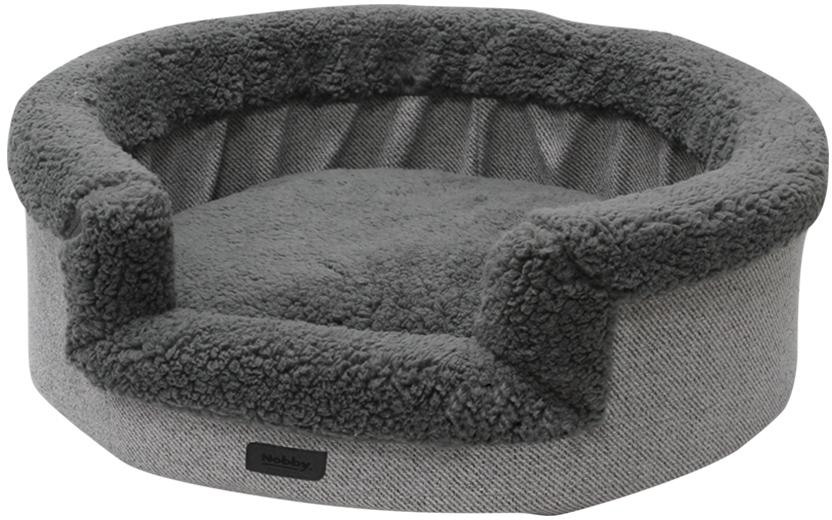 Nobby kulatý pelíšek JASIN pro psy šedá snímatelný potah 70x65x19cm
