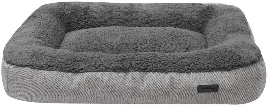 Nobby obdelníková plyšová matrace JASIN šedá 110x78x13cm